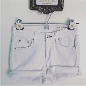 rag & bone Shorts - rag & bone White Denim Shorts Size 25